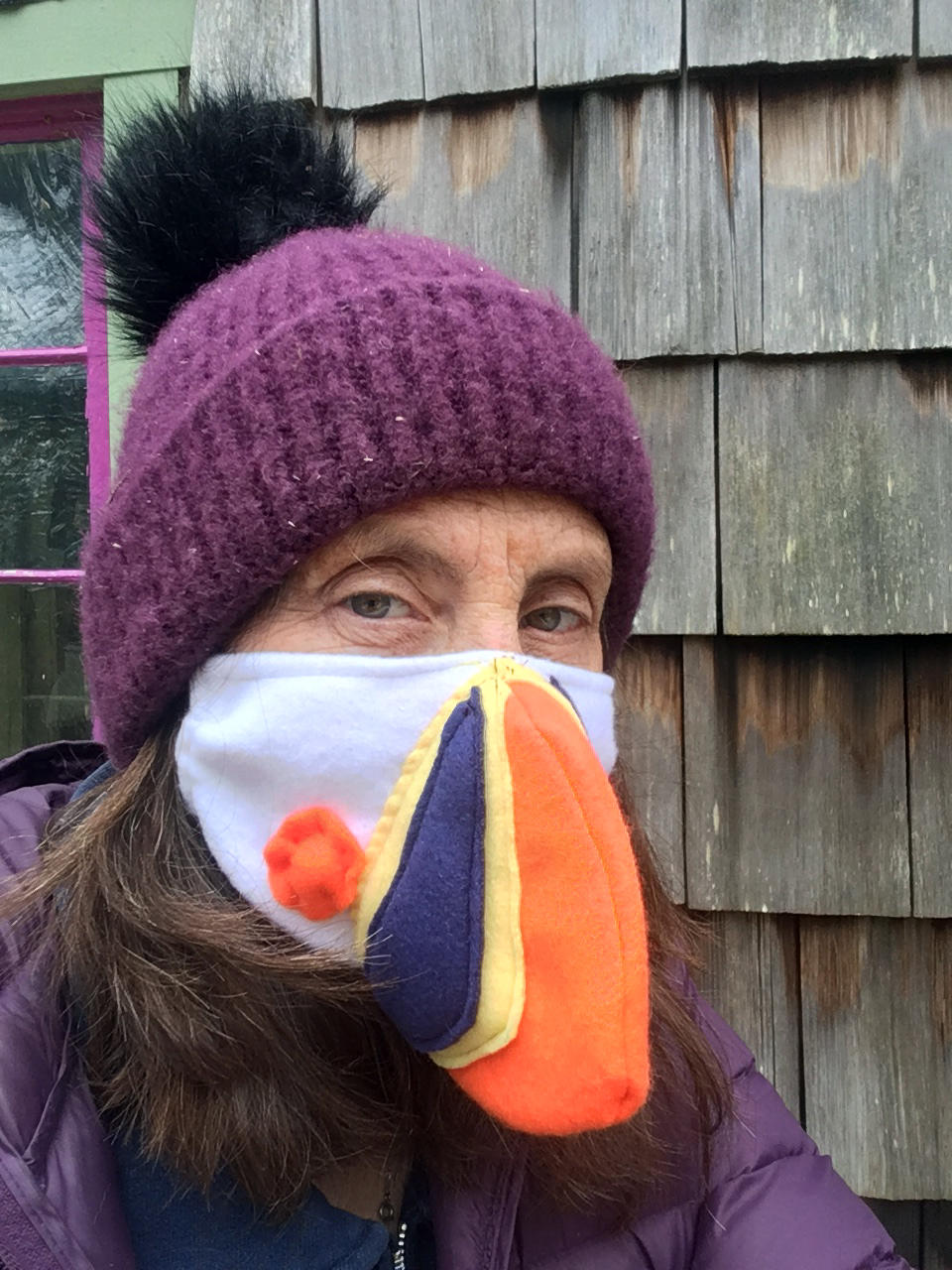 Seabird Sue in Hat and Mask