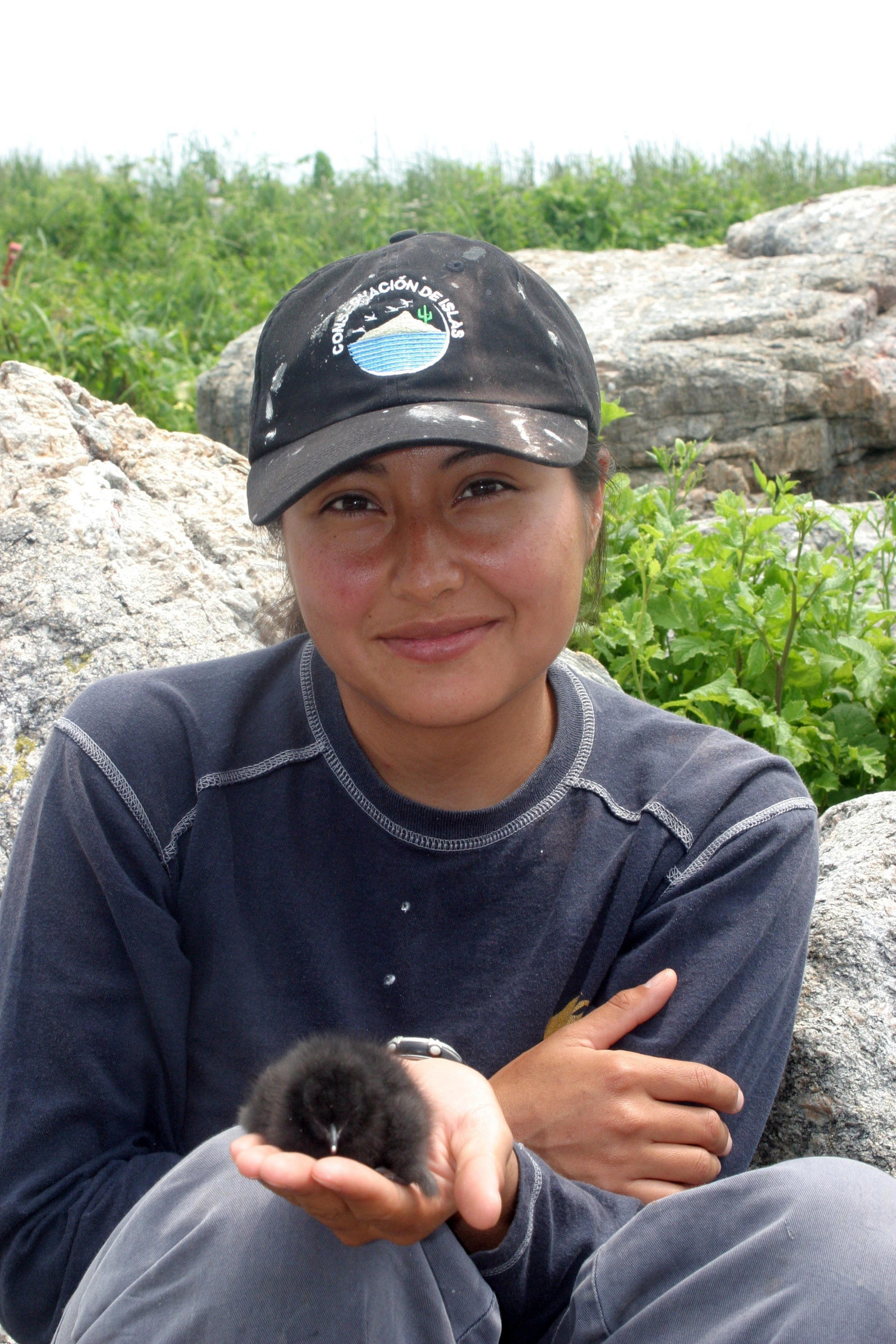 Marlenne Rodriguez and Black Guillemot Chick