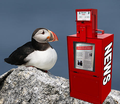 Puffin with News Kiosk