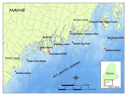 Seven Maine Field Stations Map