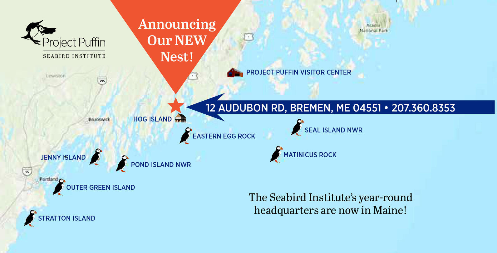 Where We Work Map for Seabird Institute
